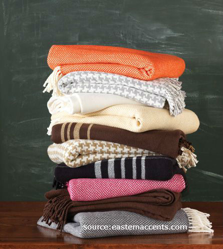 Soft throws to keep you warm.