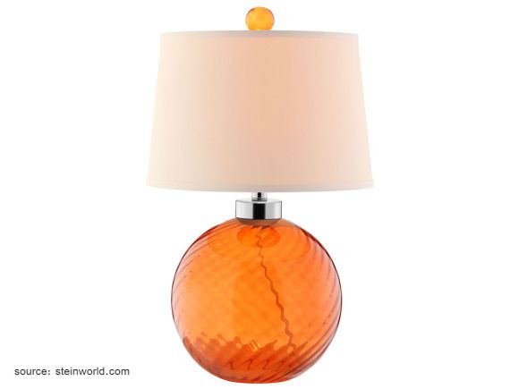 Table lamp - adds a pop of colour to task lighting.